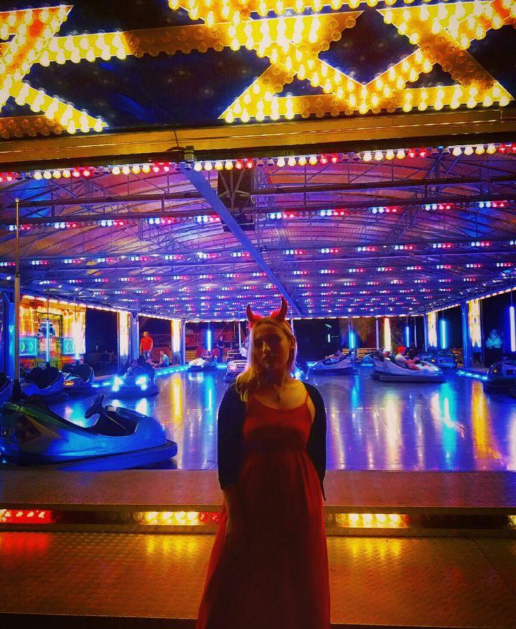 #aesthetic #party #devilgirl #reddress #neonlights #nightlights