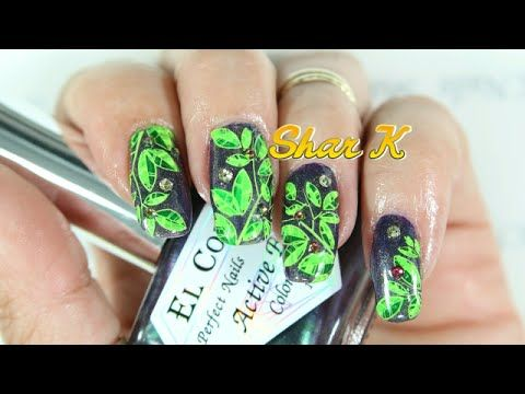 Nail Art Design - Bright Green Leaves - https://www.avon.com/category/makeup/nails?repid=16581277 https://www.avon.com/category/makeup/nails?repid=16581277  Hello  I have a new design to share. I received this gorgeous polish from Karin and I had to try it out. So of course I had to find a design for it. I thought there is only one color for this one and it's Green. That is our favorite color. What do you think sweetie?    =D You Can find Karin on her channel here&#8230