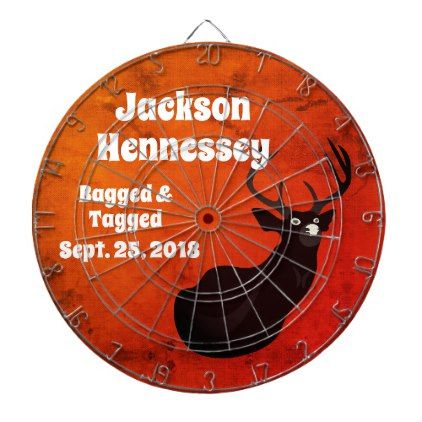 "Funny ""Bagged"" Buck Wedding Party Dartboard - wedding party gifts equipment accessories ideas"