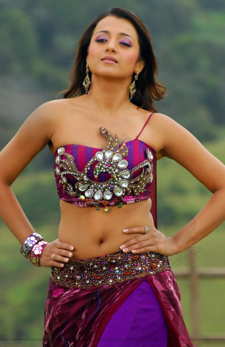 trisha hot navel