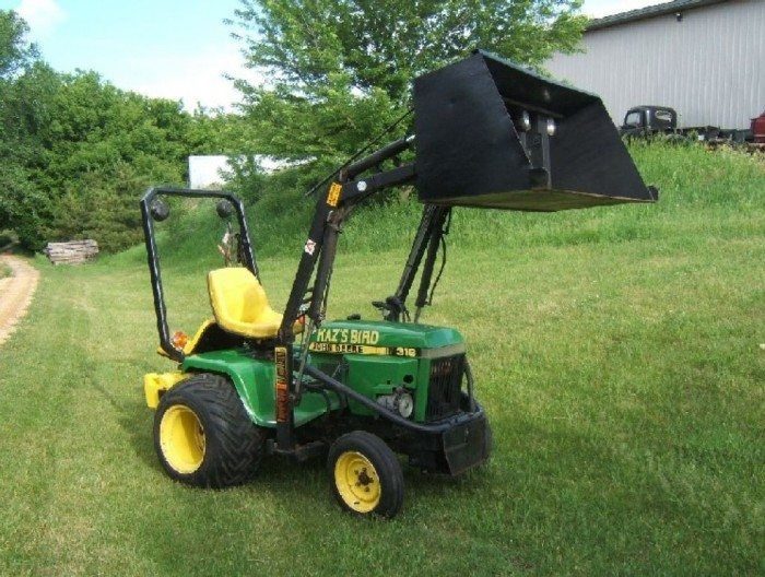 Used Lawn Tractor With Front Loader : Best ideas about used garden tractors on pinterest
