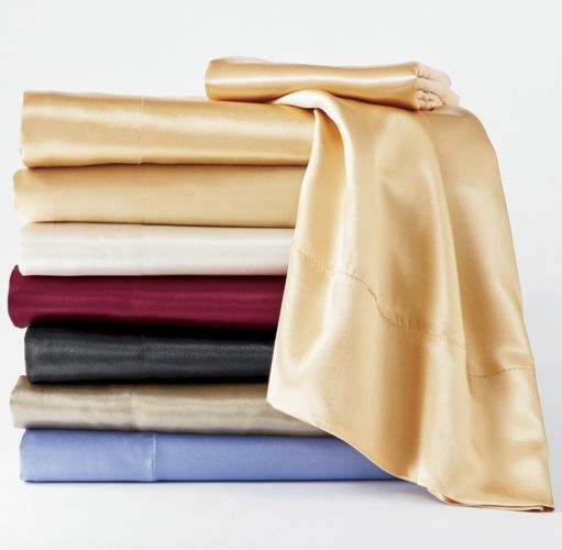 Satin Sheet Set from Midnight Velvet. Treat yourself to these ultra-smooth, shimmery satin sheets.