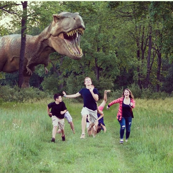 Funny family picture! O'Hare Photography Port Huron Michigan dinosaur t-rex
