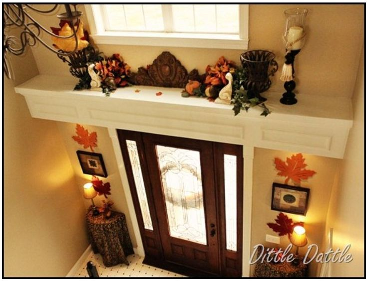 Fall decorations over the door