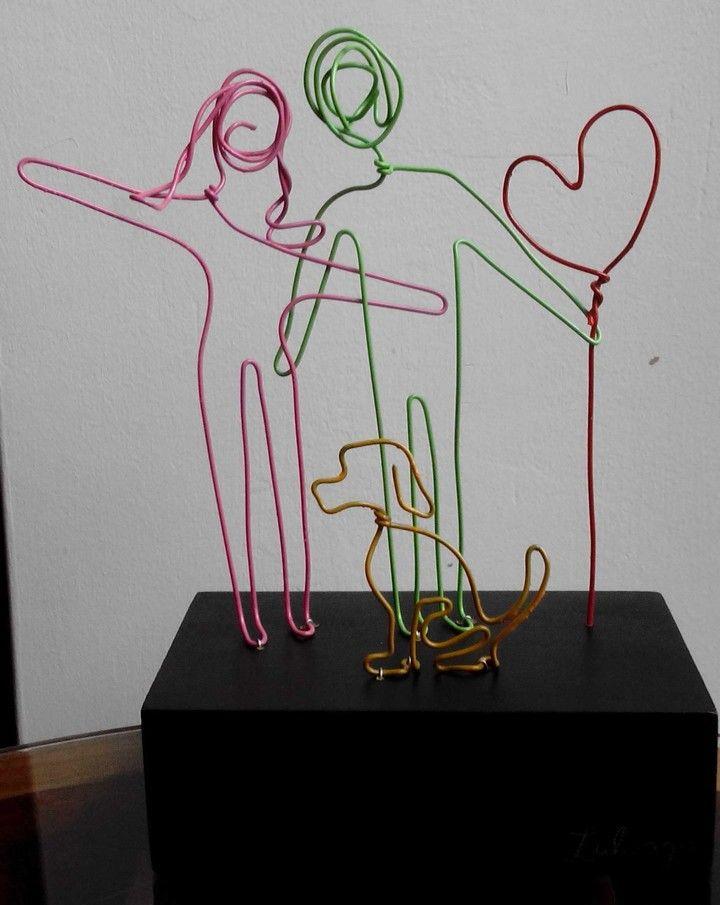 ¡Esculturas de Familia! Alambre