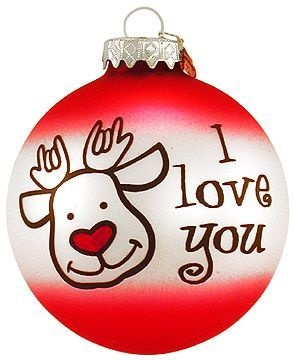 30 best deaf culture images on pinterest deaf culture sign christmas deer glass ornament asl deaf sign bronners ebay fandeluxe Gallery