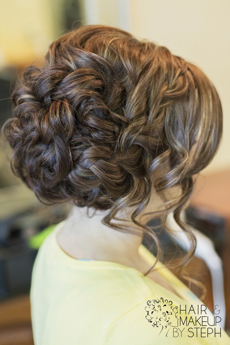 Wedding hair. Something like this, but a little looser on top.