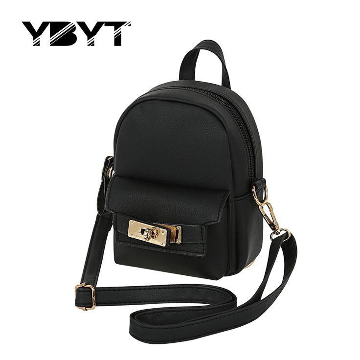 Ybyt marke 2017 neue mini solide einfache und mode rucksack frauen einkaufen paket damen adrette rucksäcke