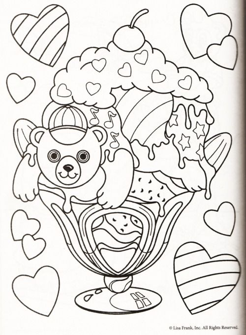 Lisa Frank Candy Coloring Pages Lisa Frank Mermaid Coloring Pages ...