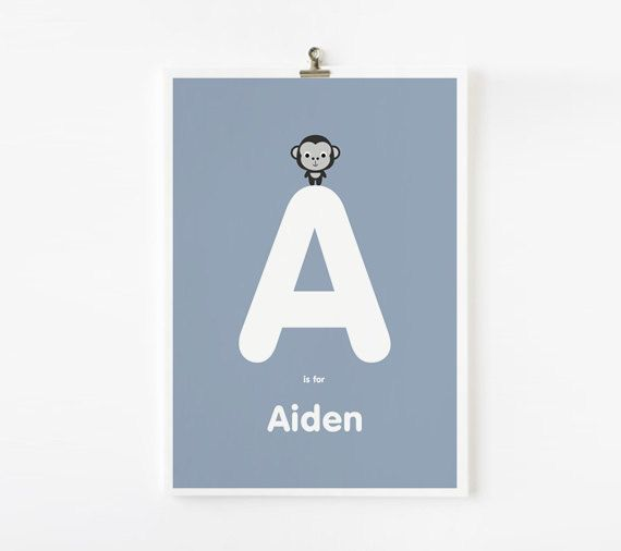 Personalized Custom Children's Alphabet Name Prints by loopzart, $18.00