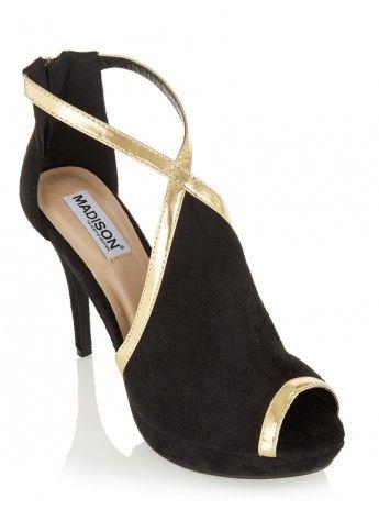 Heels With Trim Detail Black 428
