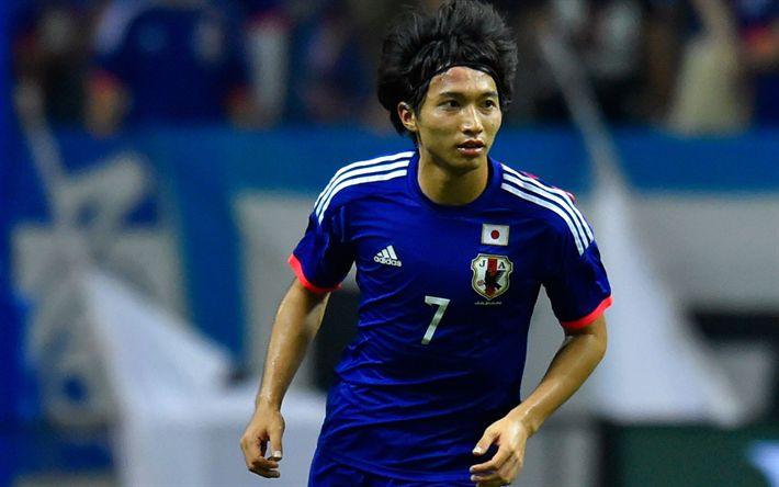 Download wallpapers Gaku Shibasaki, footballers, Japanese league, soccer, Kashima Antlers
