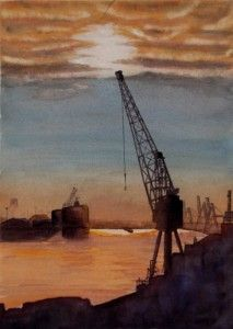 """Docklands Sunset"" by Graham Ibson"