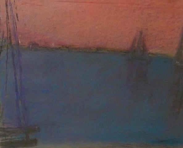 Provincetown Harbor, pastel, Wolf Kahn