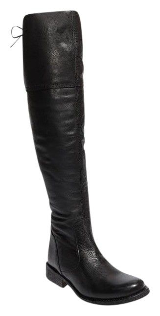 Steve Madden Omegaa Over The Knee Leather Black Boots. Get the must-have boots of this season! These Steve Madden Omegaa Over The Knee Leather Black Boots are a top 10 member favorite on Tradesy. Save on yours before they're sold out!