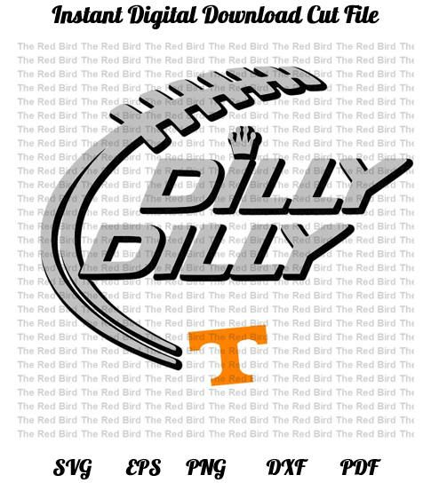 Dilly Dilly Tennessee Football funny printable Digital download cut file SVG, DXF, PNG, EpS, PdF http://etsy.me/2Apxvmk #supplies #christmas #cardmakingstationery #svg #eps #dxf #silhouette #cricut #cutfile