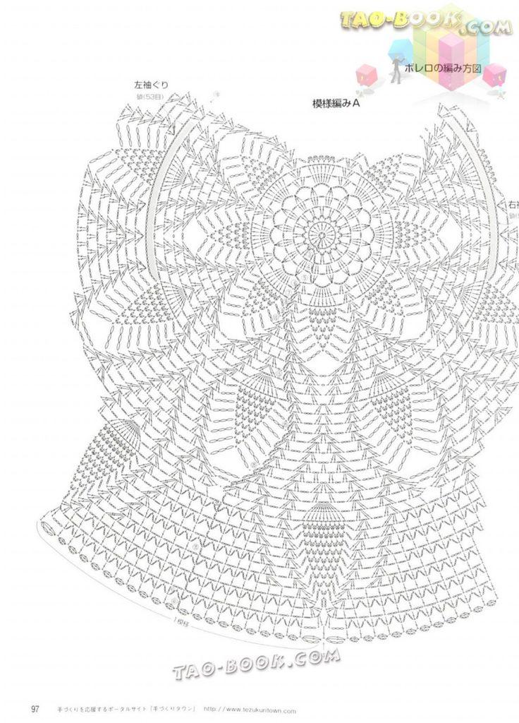 8 mejores imágenes de disegni uncinetto en Pinterest | Chaqueta ...