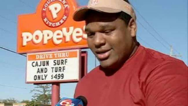 "Good for him! Hero Of The Day: 18-year-old Devin Washington!  He was in the middle of a job interview at a Popeyes restaurant - when he helped catch a thief who was robbing the place!  Danyanna Metoyer, the manager conducting the interview, blocked the man from exiting while Washington pinned his arm behind him. They then held him until police arrived.  After the incident, Metoyer told Washington"" ""You're hired; you earned it!"" Washington started his new job as a Popeyes cook on Monday, two…"
