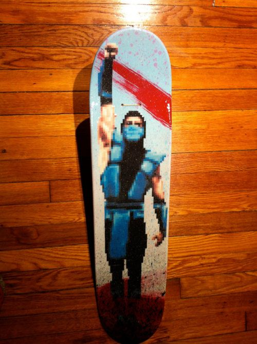 Mortal Kombat: Flawless Victory Skateboard by ashofthemind