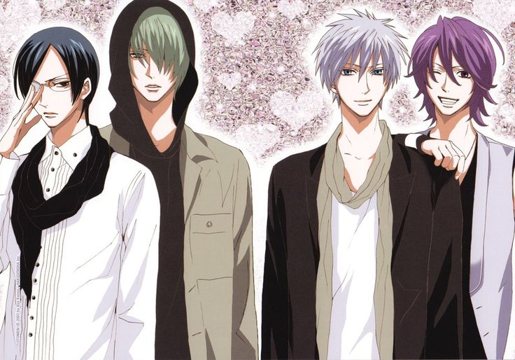 Some of the main characters from the Otomen manga.