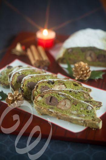 クリスマスケーキのご案内が続きます。第3弾は、昨年大人気で今年もリクエストの多かった、和シュトーレン生地は抹茶ベース、大納言、胡桃、渋皮煮などの具材がゴロゴロ、元祖はマジパンが入っておりますが