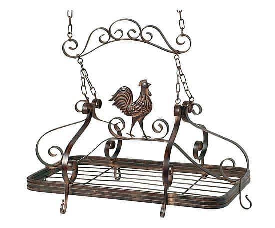Porta utensili da soffitto in ferro ruggine - 61x60x36 cm