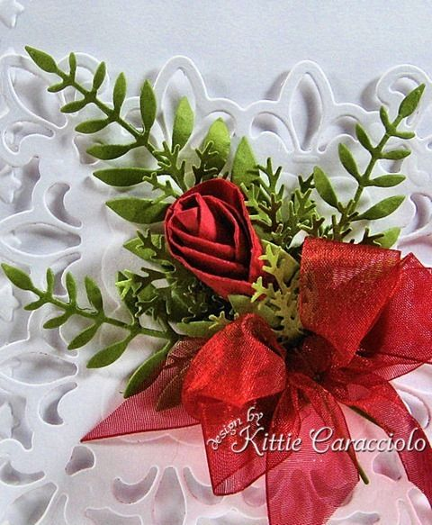 Great tutorial for paper rosebuds: Cards Ideas, Rosebud Tutorial, Rosebud Cards I, Paper Flowers, Cards I M, Paper Rosebud, Kitty Caracciola, Circles Punch, Rose Bud
