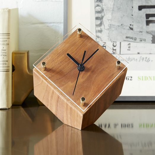 West Elm mid-century desk clock $59