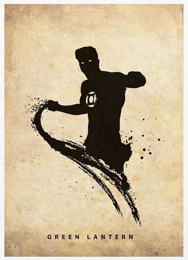 DC Comics – Pôsters das Silhuetas dos Heróis | Garotas Nerds