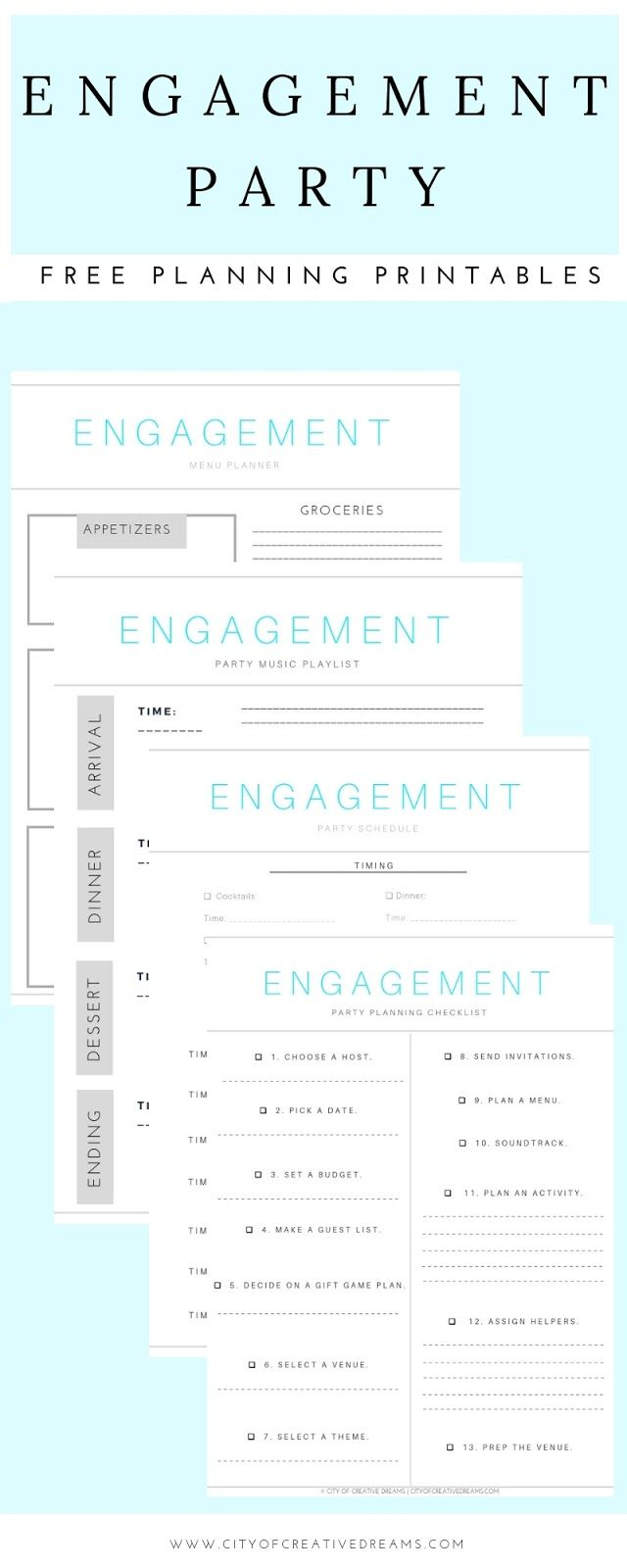 Ultimate Engagement Party Planning Checklists City Of Creative Dreams Engaged Now What Checklist Ideas