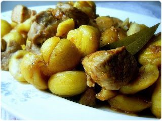 Porco - Estufado de Porco com Castanhas de Nárwen's Cuisine
