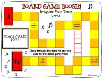 Board game to review irregular past tense verbs $2.50Languages, Classroom Resources, Art Lessons,  Website, Boards Games, Board Games, Schools Idease Reading, Speech Games Irregular Verbs, 2Nd Grade