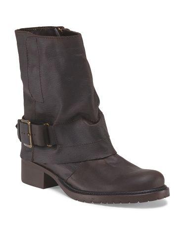Leather Ledger Mid Shaft Boot