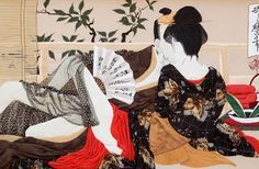 Shunga (春画?) is a Japanese term for erotic art. Most shunga are a type of ukiyo-e, usually executed in woodblock print format. The ukiyo-e movement as a whole sought to express an idealisation of contemporary urban life and appeal to the new chōnin class. The style reached its apex in the Edo period (1603 to 1867).
