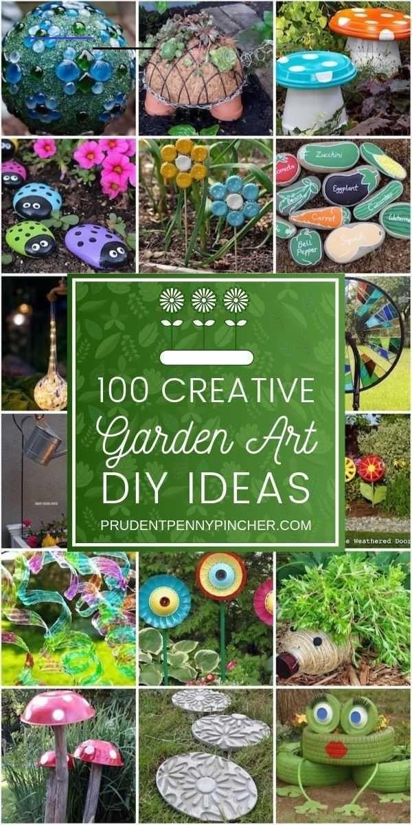 100 Kreative Heimwerker Garten Kunst Ideen 1 Diy Garten Gazing Ball Von Herd Ball Diygarden In 2020 Diy Gartenbau Gartendekor Kreativ