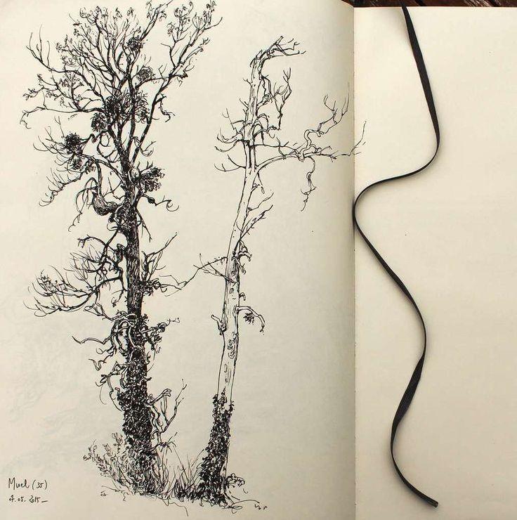 Préférence Les 25 meilleures idées de la catégorie Peintures d'arbres sur  XL34