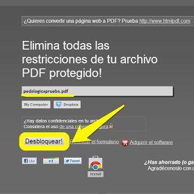 Desprotegir arxius PDF