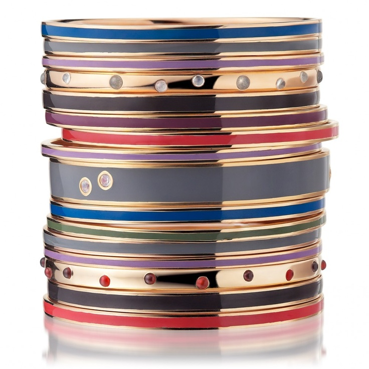 Astley Clarke.London Bangle (Set)Bangles Sets, Enamels Banglescool, Blue Enamels, Enamels Bangles Cool, Bangles Medium, Astley Clarke'S London, Accessories, Clarkelondon Bangles, Blue Things