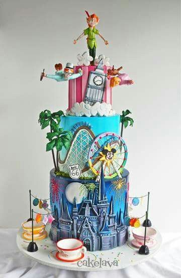 Disneyland Cake!  The details here are amazing!  So creative.