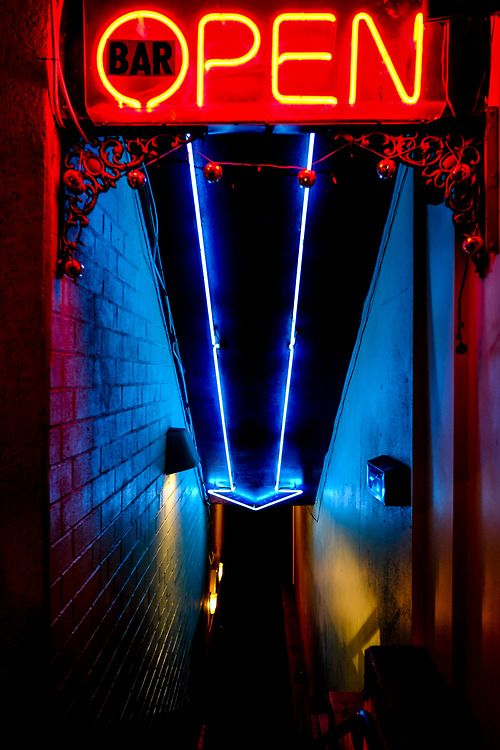 Down lighters along theatre walls - great colours. Neon / floor strips. Neon 'Capulet' sign above bar?
