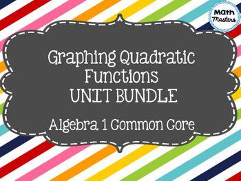 Graphing Quadratic Functions/Parabolas Unit Bundle