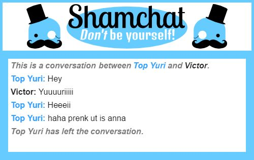 A conversation between Victor and Top Yuri