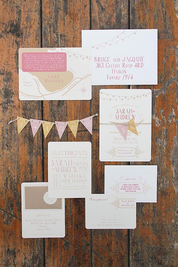 avery address labels wedding invitations%0A Whimsical Wedding Invitations with pullout bunting by Ruby  u     Willow   weddingstationery  weddinginvitations