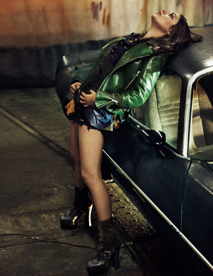 Driver's Ed – Photographer Craig McDean captures a sultry Mila Kunis in these edgy shots accompanying her cover story for the August issue of Interview Magazine. Candidly interviewed by pal James Franco, the hot actress dishes on life in the fast lane while McDean's photos find her in a bad girl wardrobe of leather and denim styled by Karl Templer.