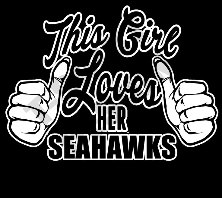 This Girl Loves Her Seahawks - PNG T-shirt design by MugsAndAccessories on Etsy