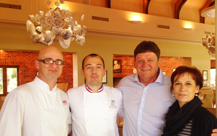 Chef Florent Boivin and Eleanor Vial from institute Paul Bocuse at La Motte