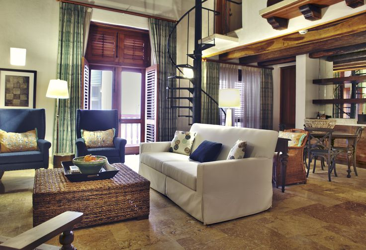 Suite Prestige Living Area at Casa San Agustin (Cartagena de Indias)