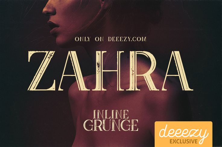 Zahra Inline Grunge Font | Deeezy - Freebies with Extended License