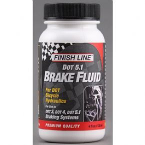 Finish Line DOT 5.1 brake fluid 4 oz / 120 ml High performance DOT 5.1 brake fluid designed specifically for mountain bike disc brakes The formula created provides maximum fluid life to ensure the best braking performance is maintained for as lon http://www.MightGet.com/february-2017-1/finish-line-dot-5-1-brake-fluid-4-oz--120-ml.asp