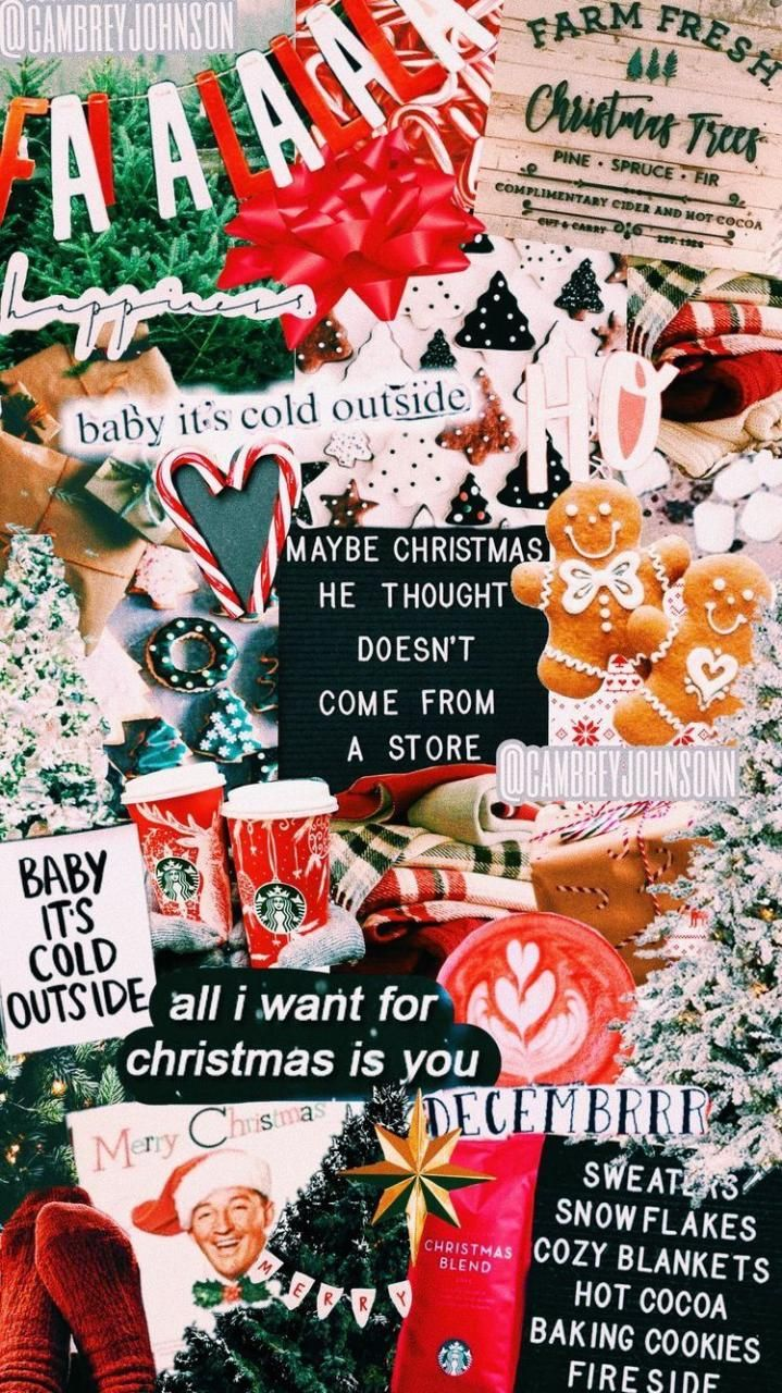 Christmas Aesthetic 30 Pictures 13 Christmas Collage Cute Christmas Wallpaper Christmas Phone Wallpaper